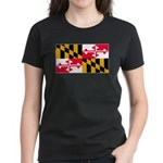 Maryland Blank Flag Women's Dark T-Shirt