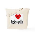 I Love Jacksonville Florida Tote Bag