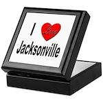 I Love Jacksonville Florida Keepsake Box