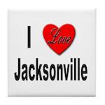 I Love Jacksonville Florida Tile Coaster