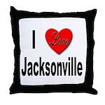 I Love Jacksonville Florida Throw Pillow