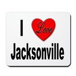 I Love Jacksonville Florida Mousepad