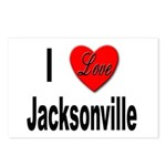 I Love Jacksonville Florida Postcards (Package of