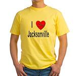 I Love Jacksonville Florida Yellow T-Shirt