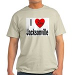 I Love Jacksonville Florida (Front) Ash Grey T-Shi