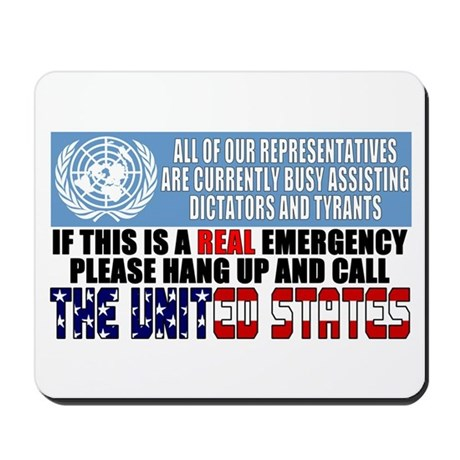 Anti United Nations Mousepad
