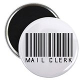 "Mail Clerk Barcode 2.25"" Magnet (100 pack)"
