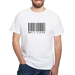 Mail Clerk Barcode White T-Shirt