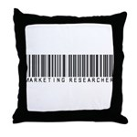 Marketing Researcher Barcode Throw Pillow