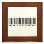 Marketing Researcher Barcode Framed Tile