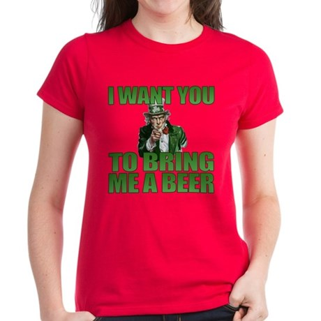 Uncle Sam Bring Me a Beer Women's Dark T-Shirt