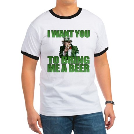 Uncle Sam Bring Me a Beer Ringer T