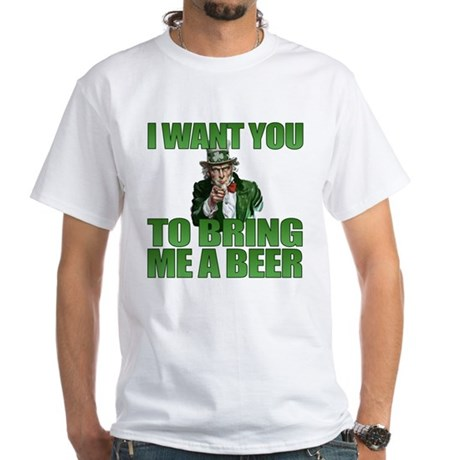 Uncle Sam Bring Me a Beer White T-Shirt