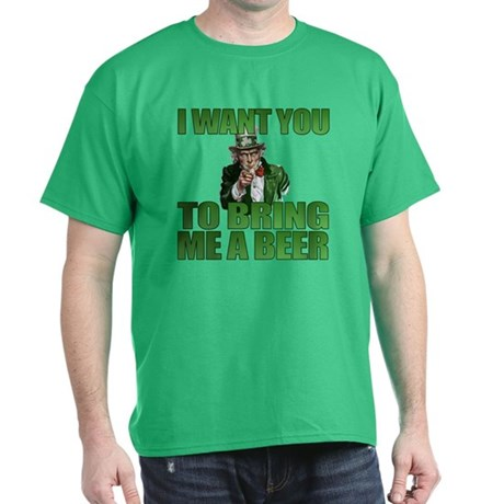 Uncle Sam Bring Me a Beer Kelly Green T-Shirt