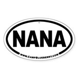 Nana Oval Decal