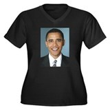ObamaPresident2008 Women's Plus Size V-Neck Dark T