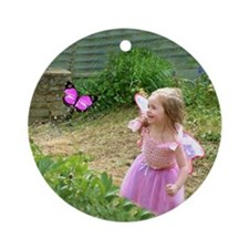 Little Pink Butterfly Fairy Keepsake (Round)