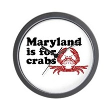 Maryland is for Crabs Wall Clock