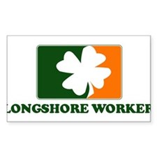 Irish LONGSHORE WORKER Rectangle Decal