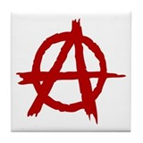 Anarchy Symbol Tile Coaster