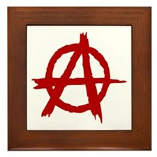 Anarchy Symbol Framed Tile