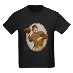 Vintage Football Kids Dark T-Shirt