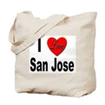 I Love San Jose California Tote Bag