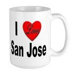 I Love San Jose California Large Mug