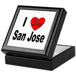 I Love San Jose California Keepsake Box