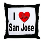 I Love San Jose California Throw Pillow