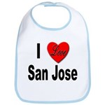 I Love San Jose California Bib