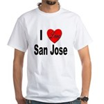 I Love San Jose California (Front) White T-Shirt