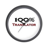100 Percent Translator Wall Clock