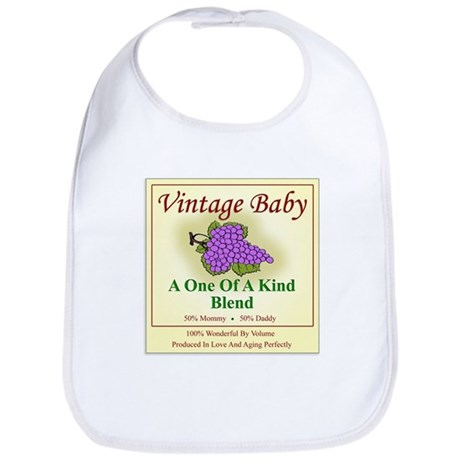 Vintage Baby Wine Label - Bib