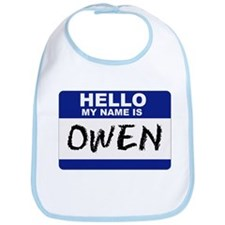 Hello My Name Is Owen - Bib