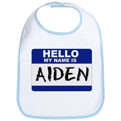 Hello My Name Is Aiden - Bib