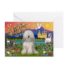 Tibetan Terrier Fantasyland Greeting Cards (Pk of