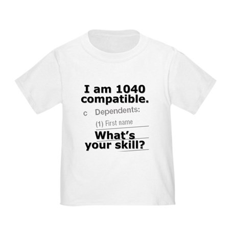 1040 Compatible Deduction - Toddler T-Shirt
