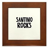 Santino Rocks Framed Tile