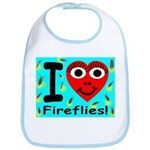 I (Heart) Fireflies Bib