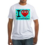 I (Heart) Fireflies Fitted T-Shirt