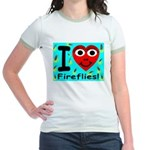 I (Heart) Fireflies Jr. Ringer T-Shirt