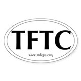 TFTC Oval Bumper Stickers