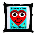 Save the fireflies! Throw Pillow