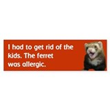 Get rid of kids bumper sticker--red/orange