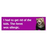 Get rid of kids bumper sticker--plum
