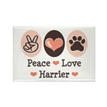 Peace Love Harrier Rectangle Magnet (100 pack)