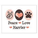 Peace Love Harrier Small Poster