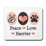 Peace Love Harrier Mousepad