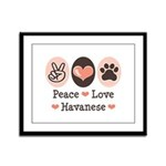 Peace Love Havanese Framed Panel Print